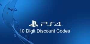 PS4 10 digit discount codes $15