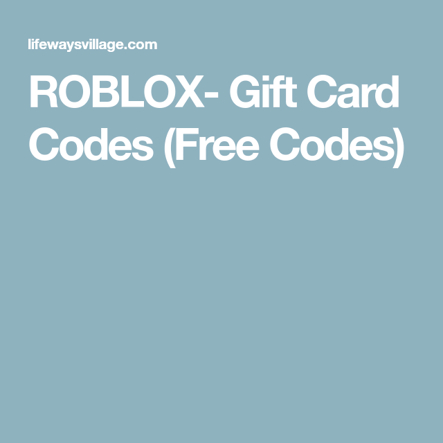 { Hack } Roblox Gift Card Codes 2018 Unused { Robux Free ...
