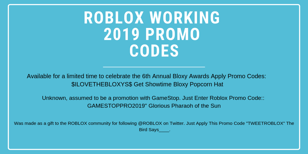 Hot! Free 100% Roblox Promo Codes List 2019 Not Expired